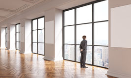 Interior businessman NYC Stock Image