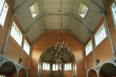 Interior  of the Busknes church Royalty Free Stock Photo