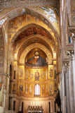 Interior of the byzantine cathedral of Monreale in Sicily Stock Photos