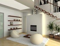 Interior cómodo moderno Imágenes de archivo libres de regalías