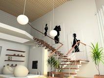 Interior cómodo moderno libre illustration