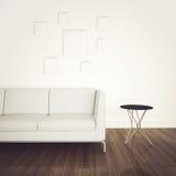 Interior cómodo moderno con la representación 3d Imagen de archivo libre de regalías