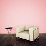 Interior cómodo moderno con la representación 3d Foto de archivo