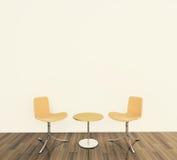Interior cómodo moderno con la representación 3d Fotografía de archivo