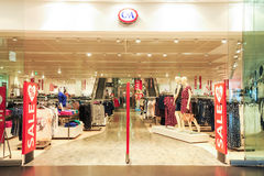 Interior of C&A fashion clothes store Royalty Free Stock Photography