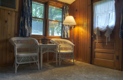 Interior of Cabin in Iowa Stock Photography
