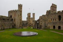 The Interior of Caernarfon Castle stock photos