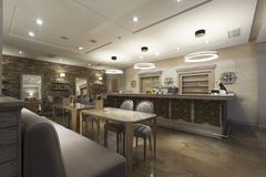 Interior of a cafe bar.  Royalty Free Stock Photo