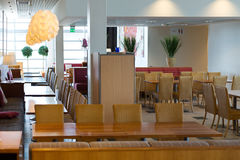 Interior of the cafe in the morning royalty free stock images