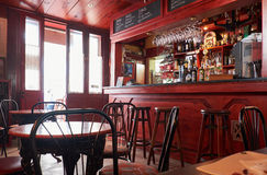 An interior of a cafe near the Lower Barrakka Gardens, Valletta Stock Photo