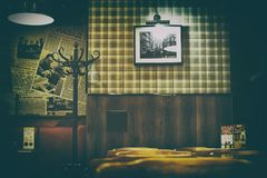 The interior of cafe in retro Soviet style Royalty Free Stock Images