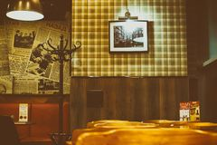 The interior of cafe in retro Soviet style Royalty Free Stock Image