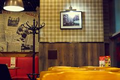 The interior of cafe in Soviet style Royalty Free Stock Image