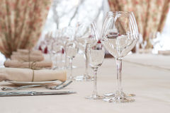 Table setting for a wedding or dinner event Stock Photography