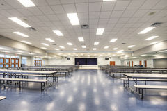 Interior of Cafeteria. At Public Middle School in Orlando, Florida Royalty Free Stock Photo