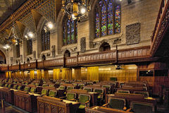 Interior of the Canada Commons of Parliament, Ottawa. An Interior of the Canada Commons of Parliament, Ottawa royalty free stock photos