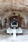 Interior of a cannon barrel at Fort Sumter. Interior of a black cannon barrel at Fort Sumter in Charleston, South Carolina Royalty Free Stock Photo