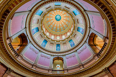 Interior capitol dome Royalty Free Stock Image