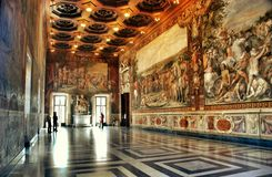 Hall of the Horatii and Curiatii in Capitoline Museum, Rome Royalty Free Stock Photography