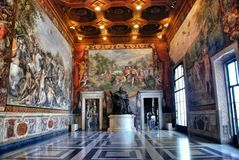 Interior of the Capitoline Museum, Rome Royalty Free Stock Photography