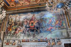 Interior of Hall of Hannibal in Capitoline Museum, Rome Royalty Free Stock Image