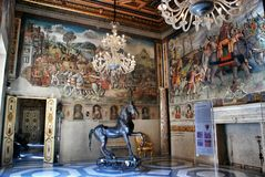 Interior in Hall of Hannibal Capitoline Museum, Rome Stock Photography