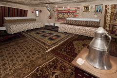 Interior of Cappadocia Cave Home Stock Images
