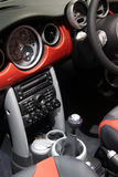 Interior of a car. Interior (dash board) of a sport car - mini Royalty Free Stock Images
