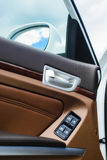 Interior of the car door with shallow depth of field Royalty Free Stock Photography