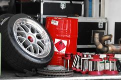 Interior of car garage  Stock Images