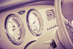 Interior of car retro style Royalty Free Stock Photography
