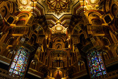 Interior of Cardiff Castle – Wales, United Kingdom. Interior of Cardiff Castle in Cardiff in Wales, United Kingdom. This beautifully decorated room is known as Royalty Free Stock Photos