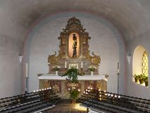 Interior of the Carmelite Church in Beilstein, Rhineland-Palatinate, Germany stock photo