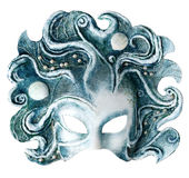 Interior and carnaval mask embodying the element of water, isolated on white Stock Image
