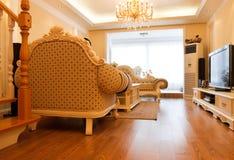 Interior caro luxuoso da sala de visitas Fotos de Stock Royalty Free