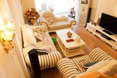 Interior caro luxuoso da sala de visitas Foto de Stock Royalty Free
