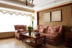 Interior caro luxuoso da sala de visitas Fotografia de Stock Royalty Free