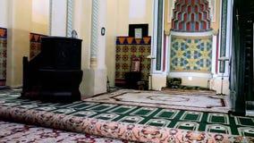 Carol I Mosque Interior Constanta Romania. Interior of Carol I Mosque in Constanta Romania stock footage