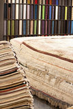 Interior of the carpet shop royalty free stock images