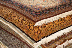 Interior of the carpet shop. Interior of the large carpet shop in Moscow Stock Image