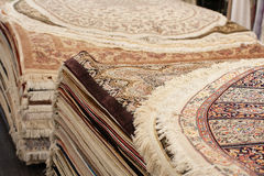 Interior of the carpet shop Stock Photography