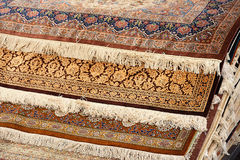 Interior of the carpet shop. Interior of the large carpet shop in Moscow Royalty Free Stock Image