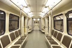 Interior of carriage in Moscow Metro, Stock Photo