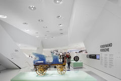 Interior Carriage of Porsche Museum Stock Images