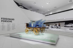 Interior Carriage of Porsche Museum Royalty Free Stock Image