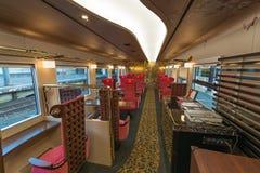 Interior carro do trem de Hanayome Noren do ò Fotografia de Stock Royalty Free