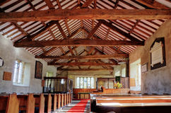 Interior of Cartmel Fell church Stock Image