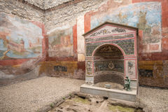Interior of Casa della Fontana Piccola, Pompeii, Italy Stock Photo