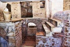 Interior of the Caseggiato del Termopolio : marble countertop. Ostia Antica - Rome , Italy Royalty Free Stock Images
