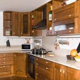 Interior casero - cocina Fotos de archivo